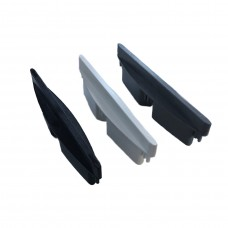 PLASTIC ELLIPTICAL LOUVRE END CAP 152mm - CODE# LOCAP2