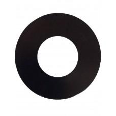 ALUMINIUM COVER PLATE ROUND BLACK 1.2mm THICK - CODE# CPROUNDPB