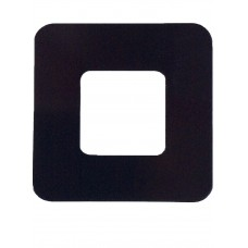 ALUMINIUM COVER PLATE SQUARE BLACK 1.2mm THICK - CODE# CPSQUAREPB
