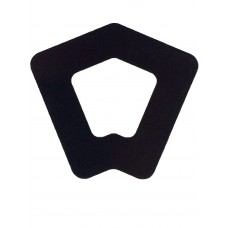 ALUMINIUM COVER PLATE SQUARE 135 DEGREE BLACK 1.2mm THICK - CODE# CP135PB