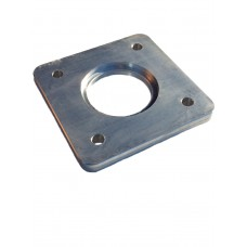ALUMINIUM SQUARE FLANGE PLATE 10mm THICK - CODE# SFPDW4