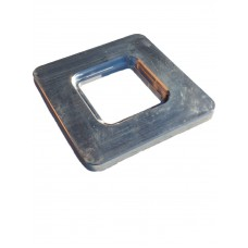 ALUMINIUM SQUARE FLANGE PLATE 10mm THICK - CODE# SFPDW5NB