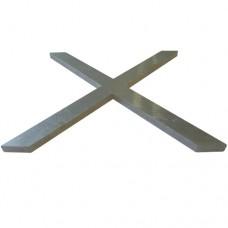 ALUMINIUM CROSS 118 x 110 x 5mm - CODE# CROSS