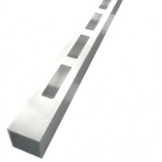 ALUMINIUM EASY LOUVRE STRAIGHT 20mm GAP SINGLE - CODE# 40SS