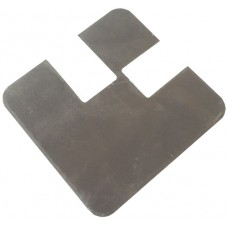 ALUMINIUM FLAT CAP SQUARE 50 x 50mm 90 DEGREE CORNER MILL - CODE# FCSN90