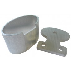ALUMINIUM WALL CUP AND TAG OVAL 50mm - CODE# OTC