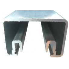 ALUMINIUM GLAZING BALUSTRADE 38 x 25mm - CODE#BA38