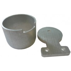 ALUMINIUM WALL CUP AND TAG ROUND 50mm - CODE# RTC