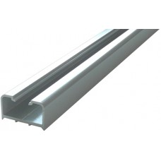 ALUMINIUM HALF SQUARE SEMI FRAME-LESS FENCE POST 50 x 25mm SILVER - CODE# HSP1250S