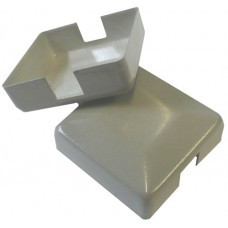 ALUMINIUM RAISED CAP SQUARE 50 x 50mm 2 WAY SILVER - CODE# ACS2S