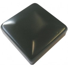 ALUMINIUM RAISED CAP SQUARE 50 x 50mm BLACK - CODE# ACSB