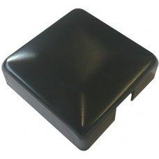 ALUMINIUM RAISED CAP SQUARE 50 x 50mm 1 WAY BLACK - CODE# ACS1B