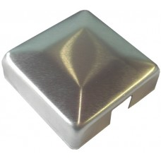 ALUMINIUM RAISED CAP SQUARE 50 x 50mm 1 WAY MILL - CODE# ACS1M