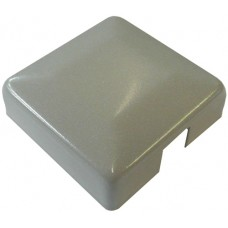 ALUMINIUM RAISED CAP SQUARE 50 x 50mm 1 WAY SILVER - CODE# ACS1S