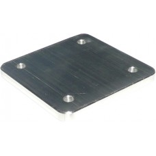 ALUMINIUM SQUARE FLANGE PLATE 10mm THICK - CODE# SFPDW7