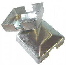 ALUMINIUM RAISED CAP SQUARE 50 x 50mm 2 WAY MILL - CODE# ACS2M
