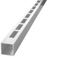 ALUMINIUM EASY LOUVRE STRAIGHT 8mm GAP SINGLE - CODE# 408S
