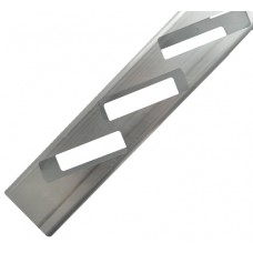 ALUMINIUM EASY LOUVRE ANGLED 10mm OVERLAP DOUBLE - CODE# 50RAT