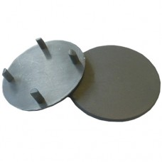 PLASTIC 50mm ROUND CAP FOR SEMI FRAMELESS POST SILVER - CODE# GLCAPRS