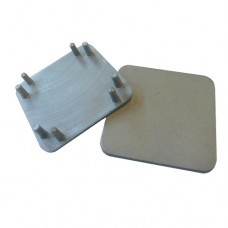 PLASTIC 50 x 50mm SQUARE CAP FOR SEMI FRAMELESS POST SILVER - CODE# GLCAPSS