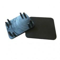 PLASTIC 50 x 50mm SQUARE CAP FOR SEMI FRAMELESS POST BLACK - CODE# GLCAPSB