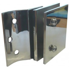 FRAME LESS GLASS FENCING LOCK FIXING PLATE - CODE# NEP-L005