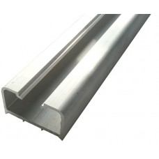 ALUMINIUM HALF SQUARE SEMI FRAME-LESS FENCE POST 50 x 25mm - CODE# SGS1/2