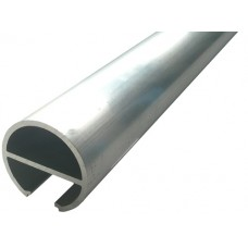 ALUMINIUM ROUND SEMI FRAME-LESS FENCE POST 50MM 1 WAY - CODE# SGR1