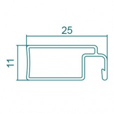25mm x 11mm FLYSCREEN FRAME - CODE# 25X11FFM