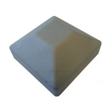 PLASTIC 50 x 50mm SQUARE CAP HOLLOW SILVER - CODE# HPCAPSS