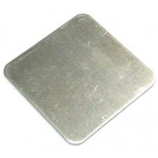 ALUMINIUM FLAT CAP SQUARE 50 x 50mm MILL - CODE# FCS